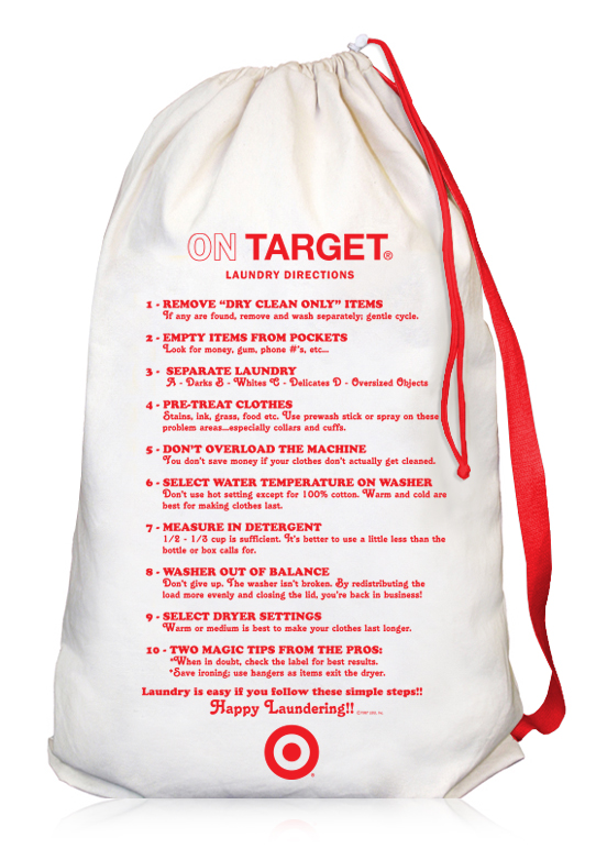 Laundry Bag Target Awesome Target Canvas Laundry Bag With Directions LBU